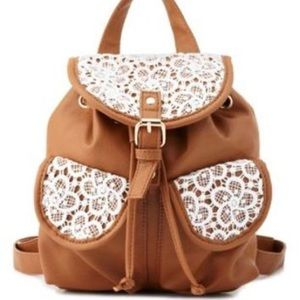 brown mini backpack